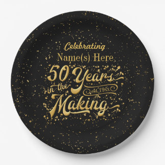 50 Years in the Making - Birthday or Anniversary Paper Plate