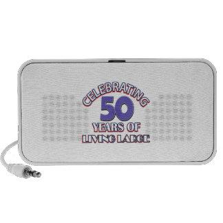 50 years of living large birthday designs travel speaker