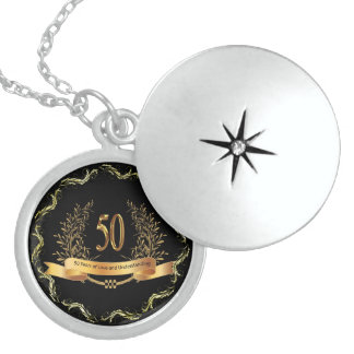 50 Years of-Love  Sterling Silver Round Locket