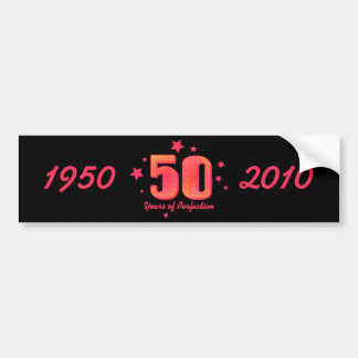 50 Years of Perfection Water Bottle Wrapper Bumper Sticker