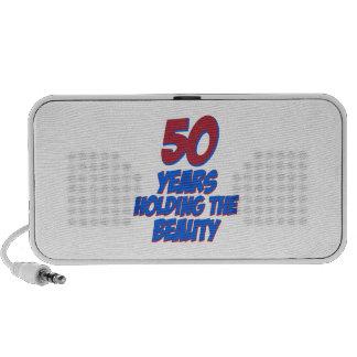 50 years old birthday designs notebook speaker