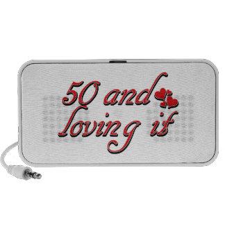 50 years Old birthday designs Portable Speakers
