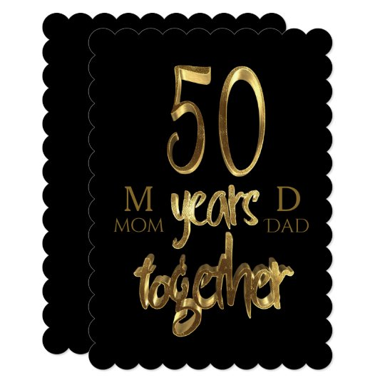 50 Years Together Golden Wedding 50th Anniversary Card