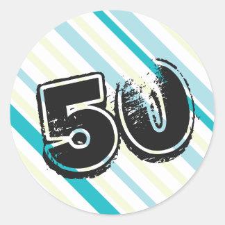 50 yr Bday - 50th Birthday Party Round Sticker