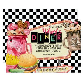 50's Diner Milkshake Party Card