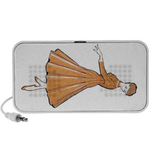 50's fashion sketch mini speakers