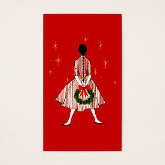 50s Girl Christmas Gift Tags
