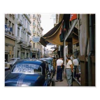 50's Havana Street Scene High Res Color Photo