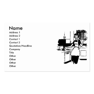 50's Housewife Business Cards