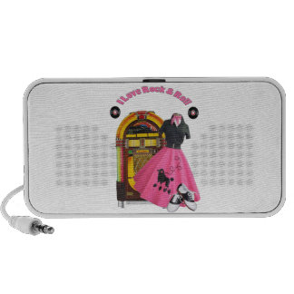 50's I Love Rock & Roll Doodle Speaker