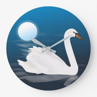 50s Mid Century Modern Swan Personalized Large Clock