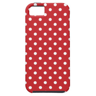 50's Red Polka Dots iPhone 5 Covers