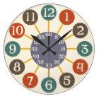 50s Retro Atomic Starburst Midcentury Modern Large Clock