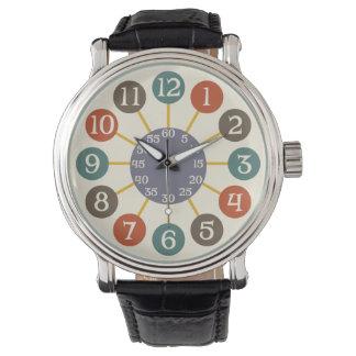 50s Retro Atomic Starburst Midcentury Modern Wrist Watch