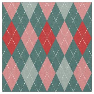 50s Retro Christmas Argyle Fabric