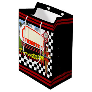 50s Retro Diner Medium Gift Bag