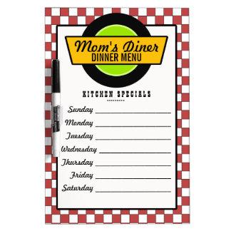50's Retro Diner Menu Dry-Erase Whiteboards