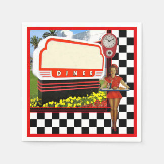 50s Retro Diner Paper Napkins