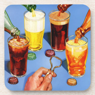 50s Retro Pop Art Cola and Beer Coasters
