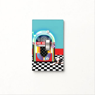 50's Sock Hop Dance Party Jukebox Red Light Switch Cover