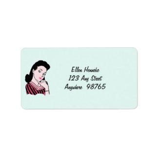 50s Woman Sarcasm Label