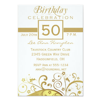50th - 59th Birthday Party Invitations