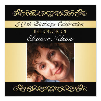 50th-59th Birthday Party Invitations With Photo
