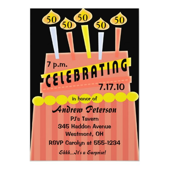 50th - 59th Birthday Party Personalized Invitation   Zazzle.ca