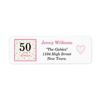 50th and fabulous birthday address label