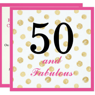 50th and fabulous birthday party invite