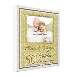 50th Anniversary 16x16 Personalized Photo Canvas