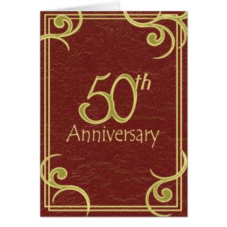 50th Anniversary Book Invitation