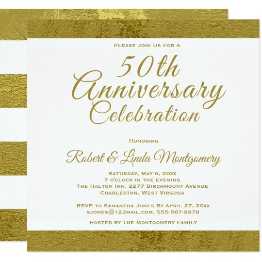 50th Anniversary Celebration - Gold Invitation