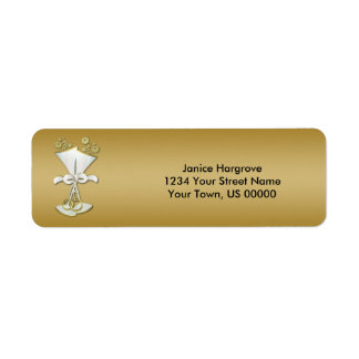 50th Anniversary Champagne Celebration Labels