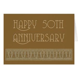 50th anniversary elegant card