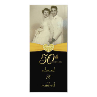 50th Anniversary - Elegant Photo Invitations