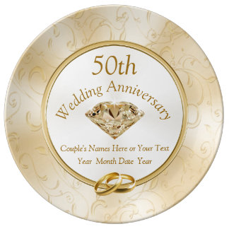 50th Anniversary Gift Ideas for Friends, Family Plate