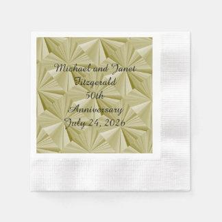 50th Anniversary Gold Diamond Paper Napkin by Janz