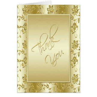 50th Anniversary Gold Glitter Thank You Card
