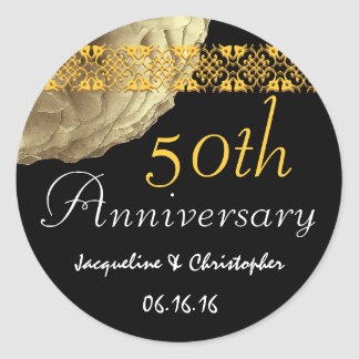 50th Anniversary GOLD Rose Sticker