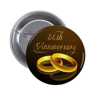 50th Anniversary | Gold Script 2 Inch Round Button