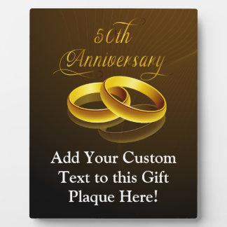 50th Anniversary | Gold Script Plaque