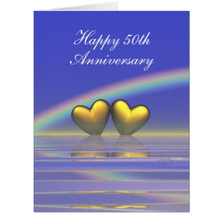 50th Anniversary Golden Hearts Card