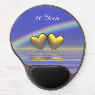 50th Anniversary Golden Hearts Gel Mouse Pad