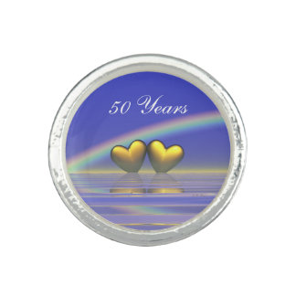 50th Anniversary Golden Hearts Ring