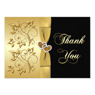 50th Anniversary Hearts 2 PHOTO Thank You Card