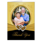 50th Anniversary Hearts Thank You Card (Photo)