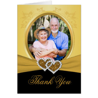 50th Anniversary Hearts Thank You Card (Photo)