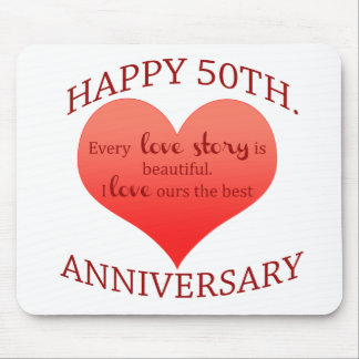 50th. Anniversary Mouse Pad