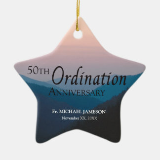 50th Anniversary of Ordination Congratulations Ceramic Ornament